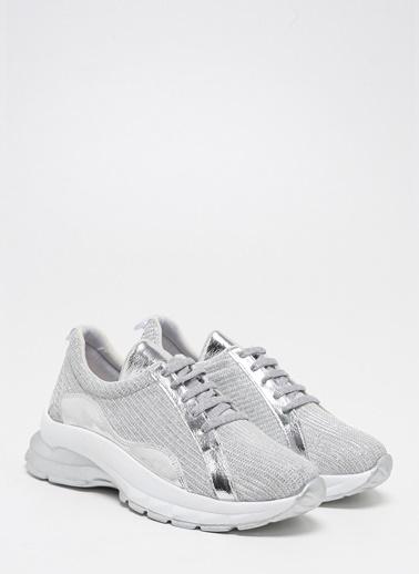 F By Fabrika Kadın Siyah Sneakers KHARMA Gümüş